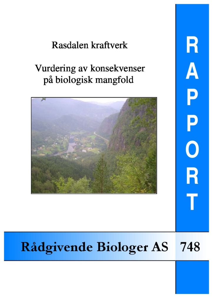 Rapport cover - rapport 748