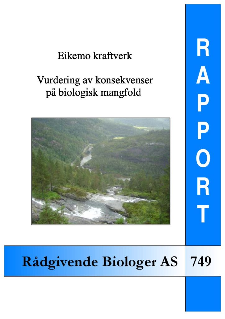 Rapport cover - rapport 749