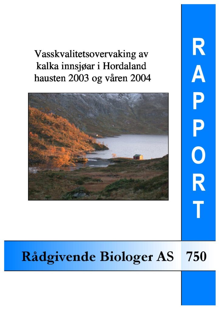Rapport cover - rapport 750