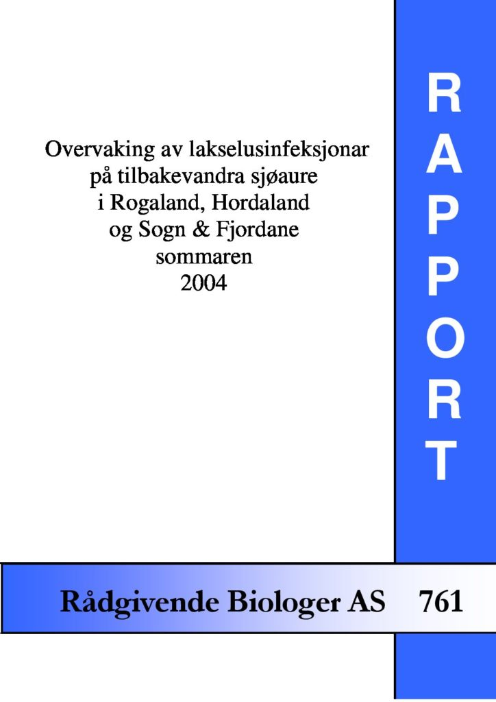 Rapport cover - rapport 761