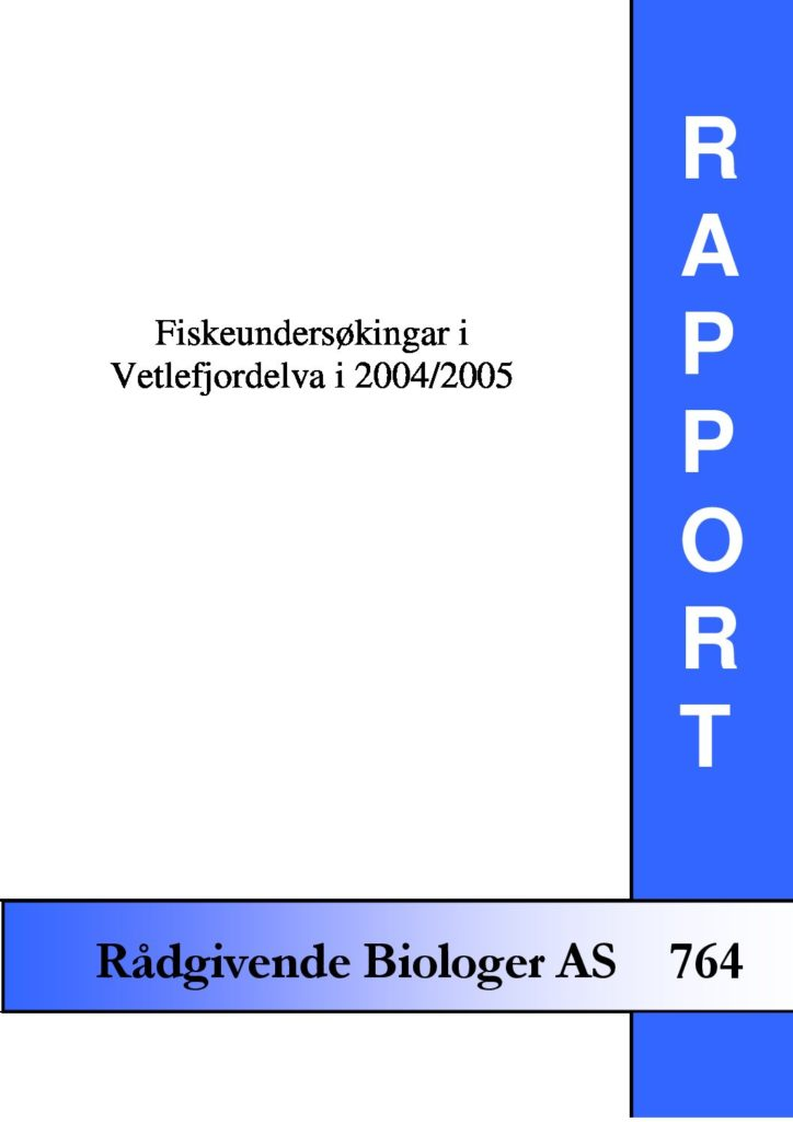 Rapport cover - rapport 764