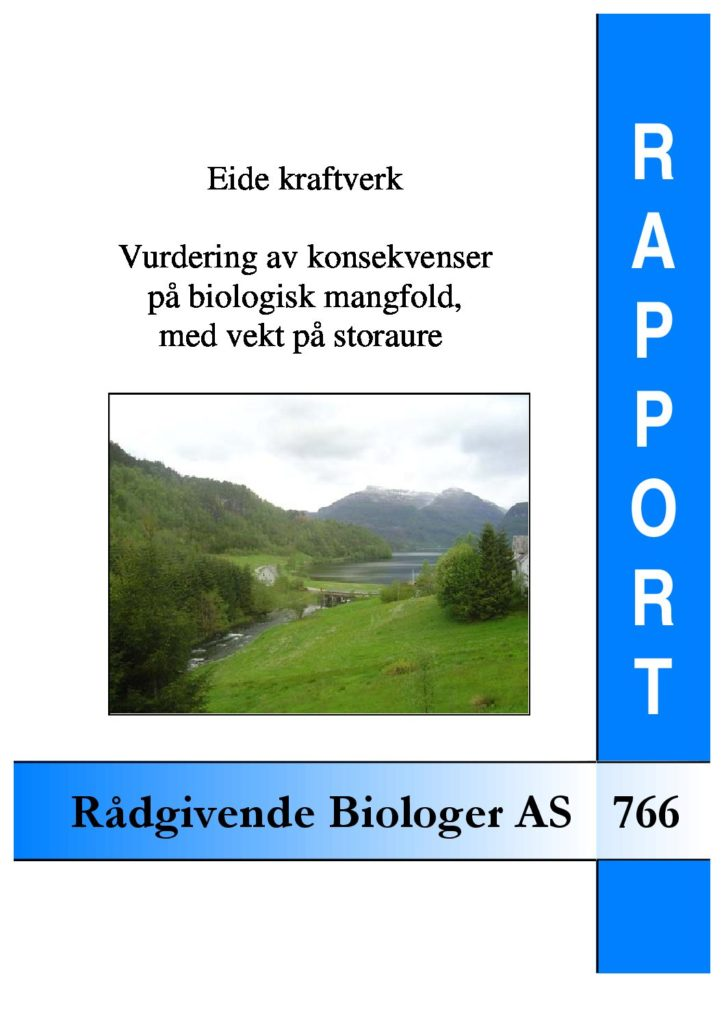 Rapport cover - rapport 766