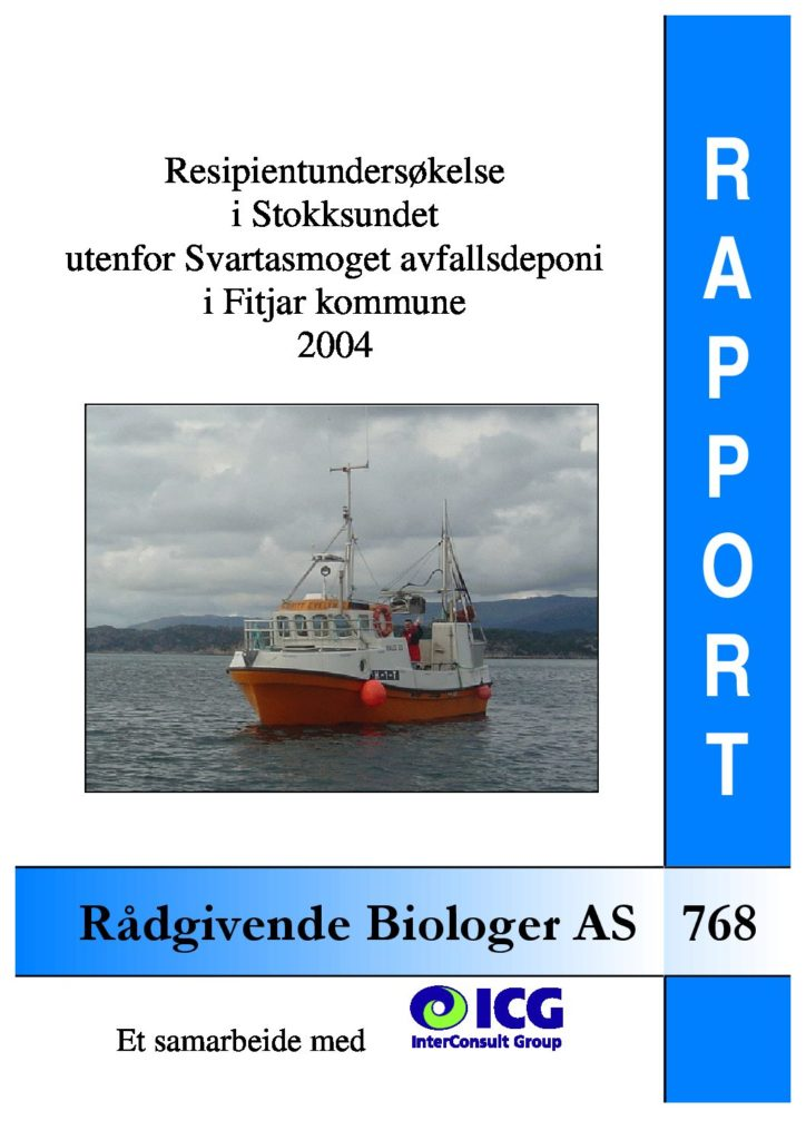 Rapport cover - rapport 768