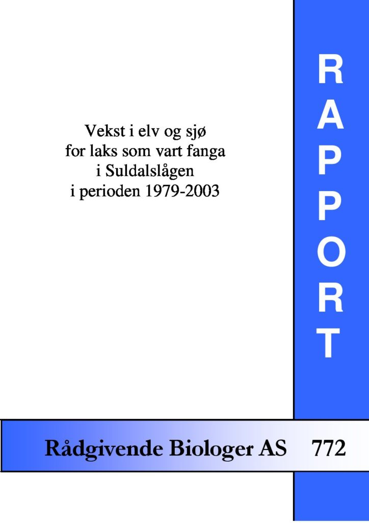 Rapport cover - rapport 772
