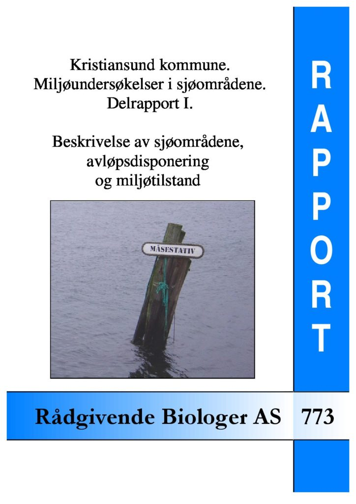 Rapport cover - rapport 773