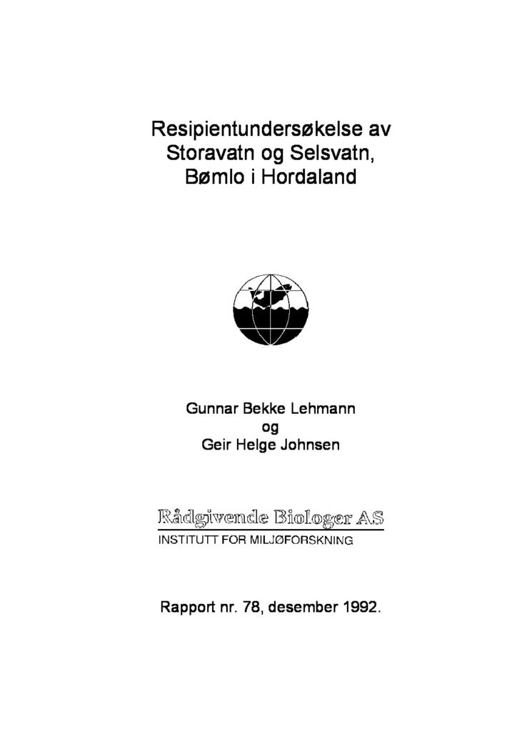Rapport cover - rapport 78
