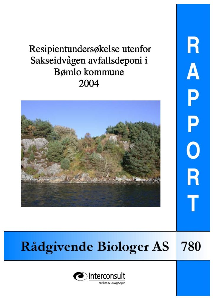 Rapport cover - rapport 780