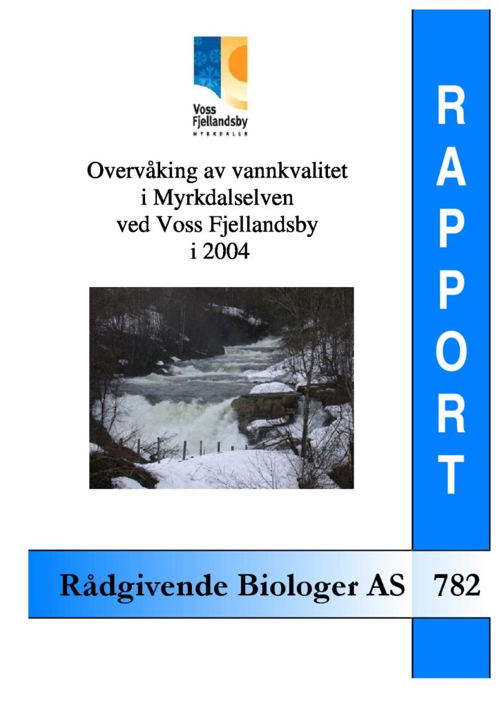 Rapport cover - rapport 782