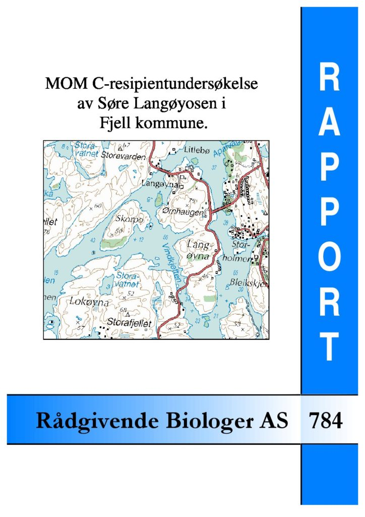 Rapport cover - rapport 784