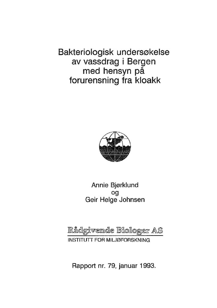 Rapport cover - rapport 79