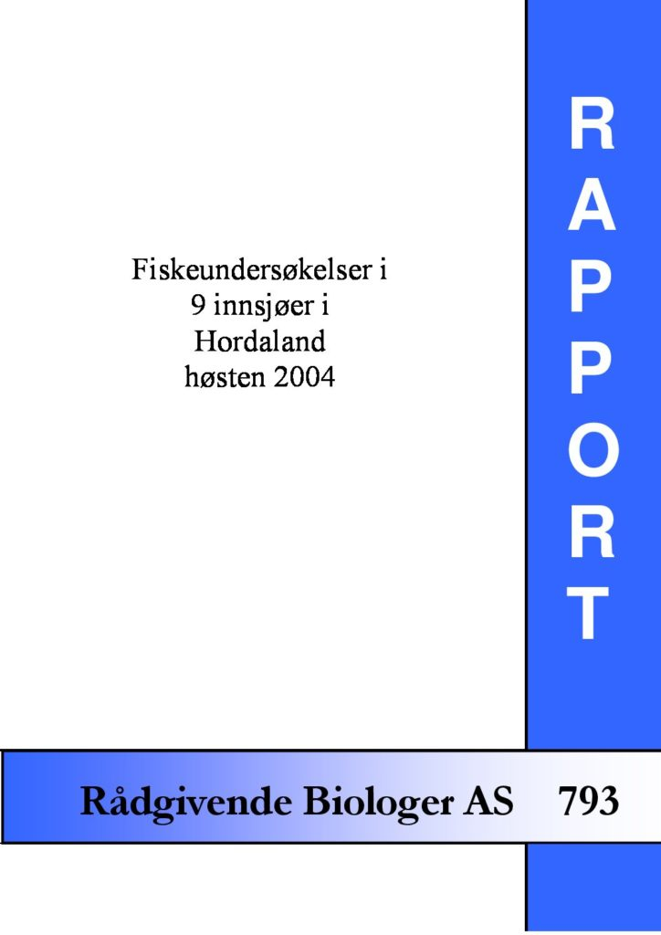Rapport cover - rapport 793