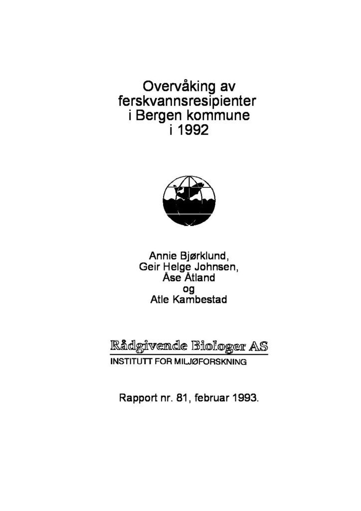 Rapport cover - rapport 81