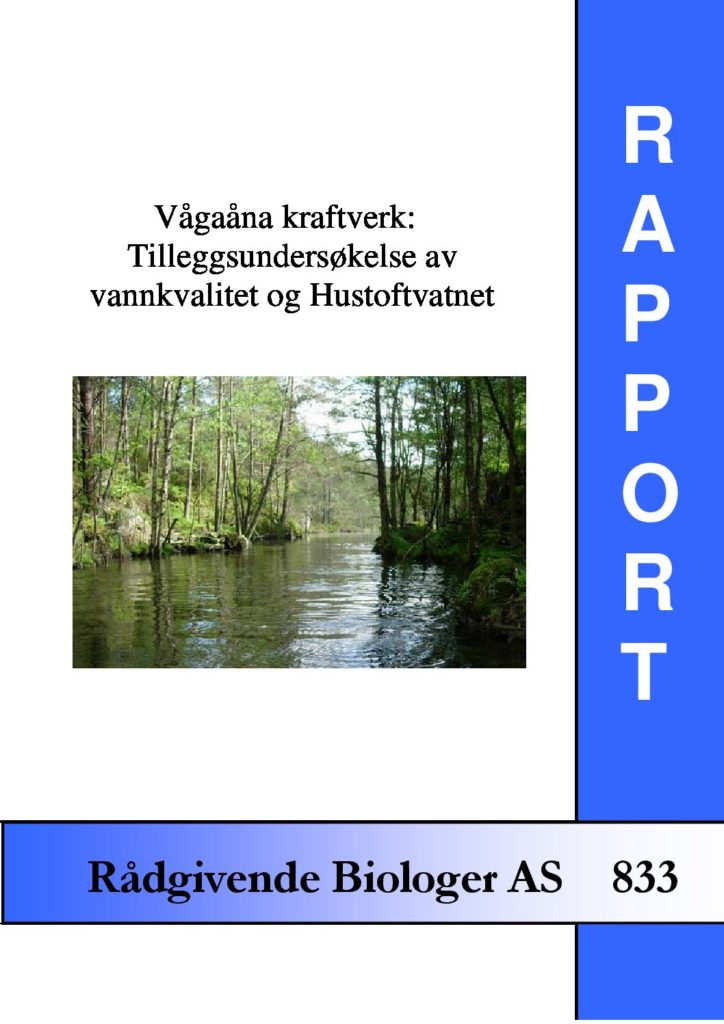 Rapport cover - rapport 833