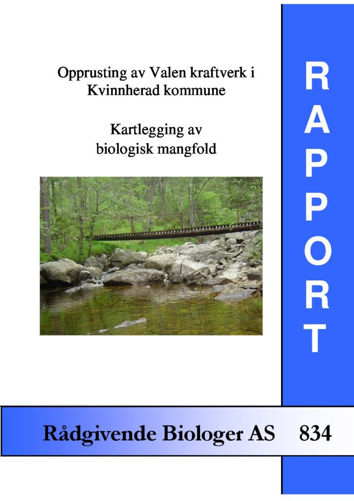 Rapport cover - rapport 834
