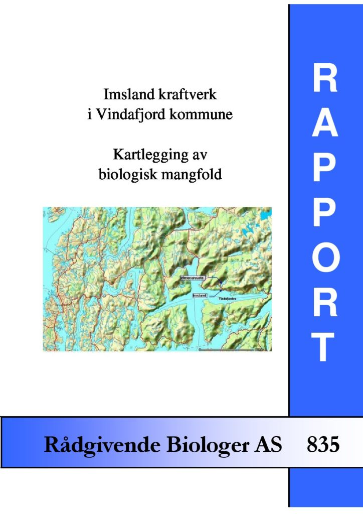 Rapport cover - rapport 835