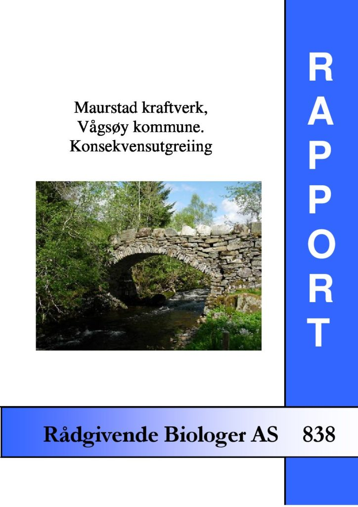 Rapport cover - rapport 838