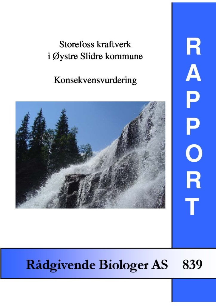 Rapport cover - rapport 839