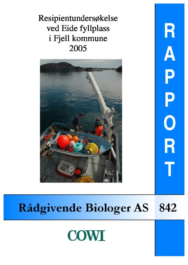 Rapport cover - rapport 842