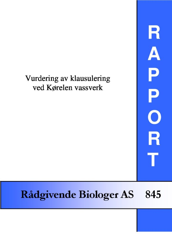 Rapport cover - rapport 845