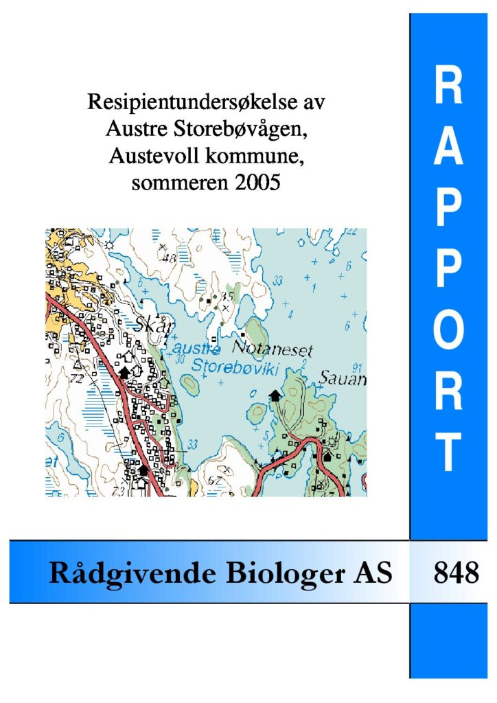 Rapport cover - rapport 848