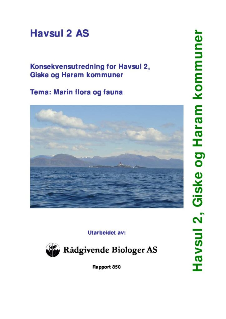 Rapport cover - rapport 850