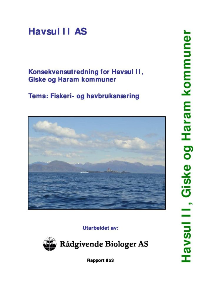 Rapport cover - rapport 853