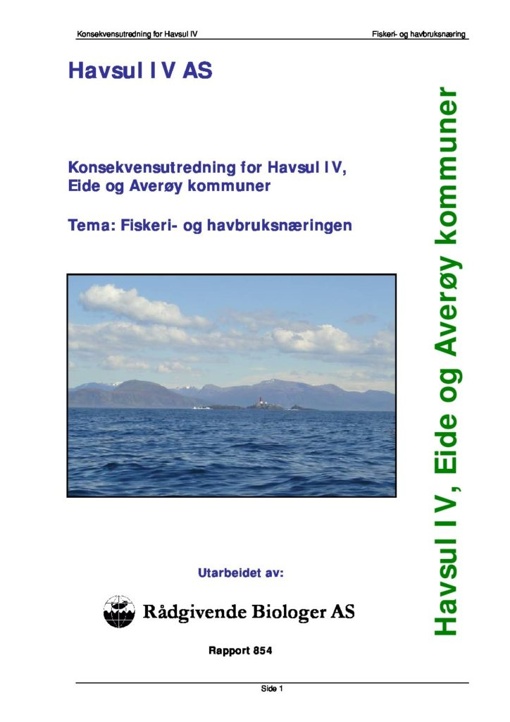 Rapport cover - rapport 854