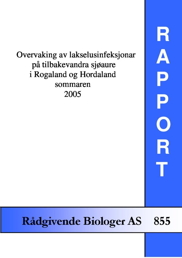 Rapport cover - rapport 855