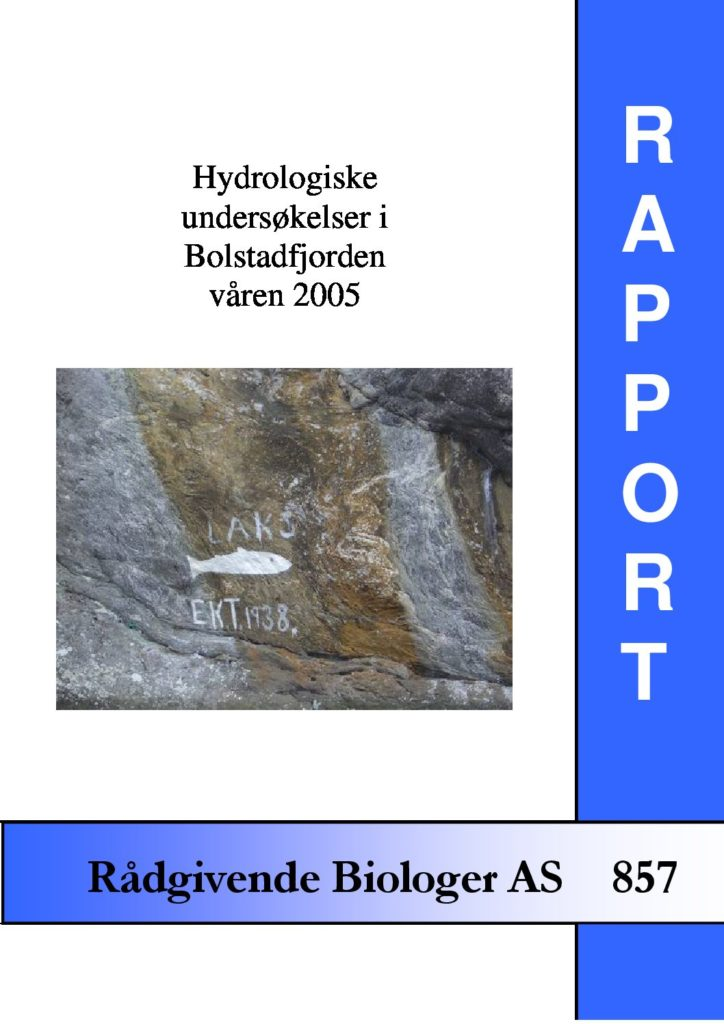 Rapport cover - rapport 857