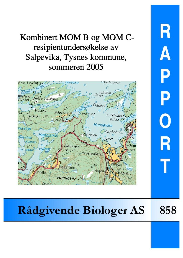 Rapport cover - rapport 858