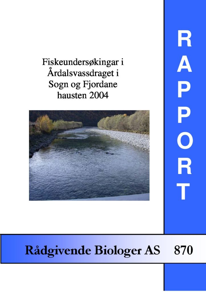 Rapport cover - rapport 870