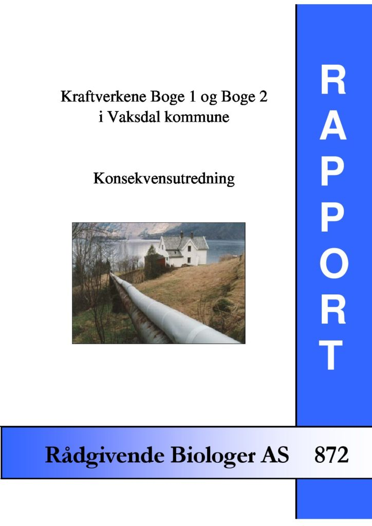 Rapport cover - rapport 872