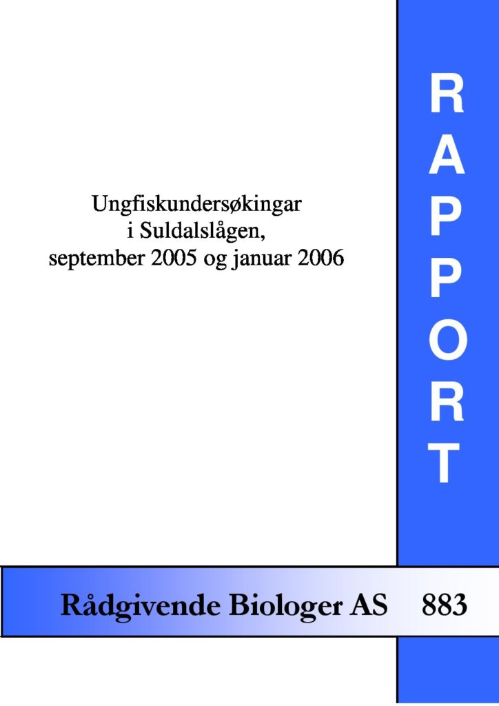 Rapport cover - rapport 883