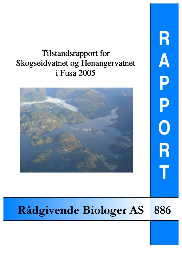 Rapport cover - rapport 886