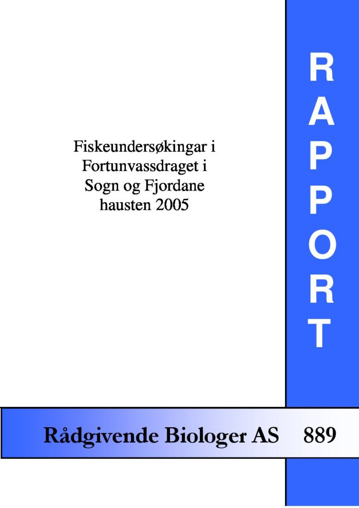 Rapport cover - rapport 889