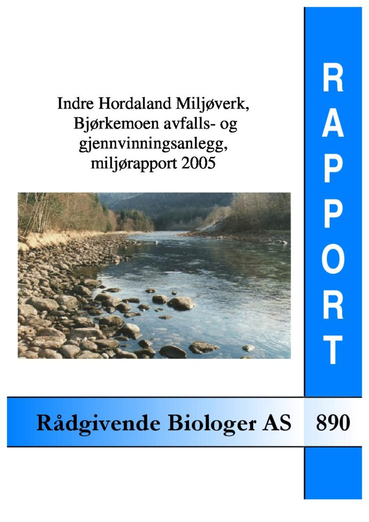 Rapport cover - rapport 890