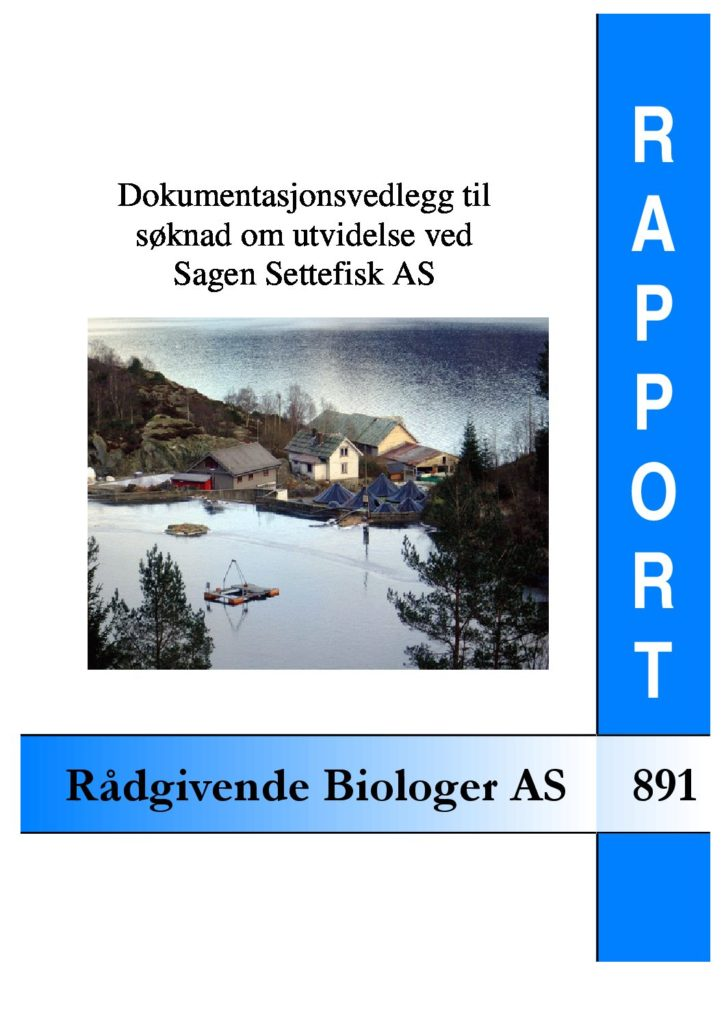 Rapport cover - rapport 891