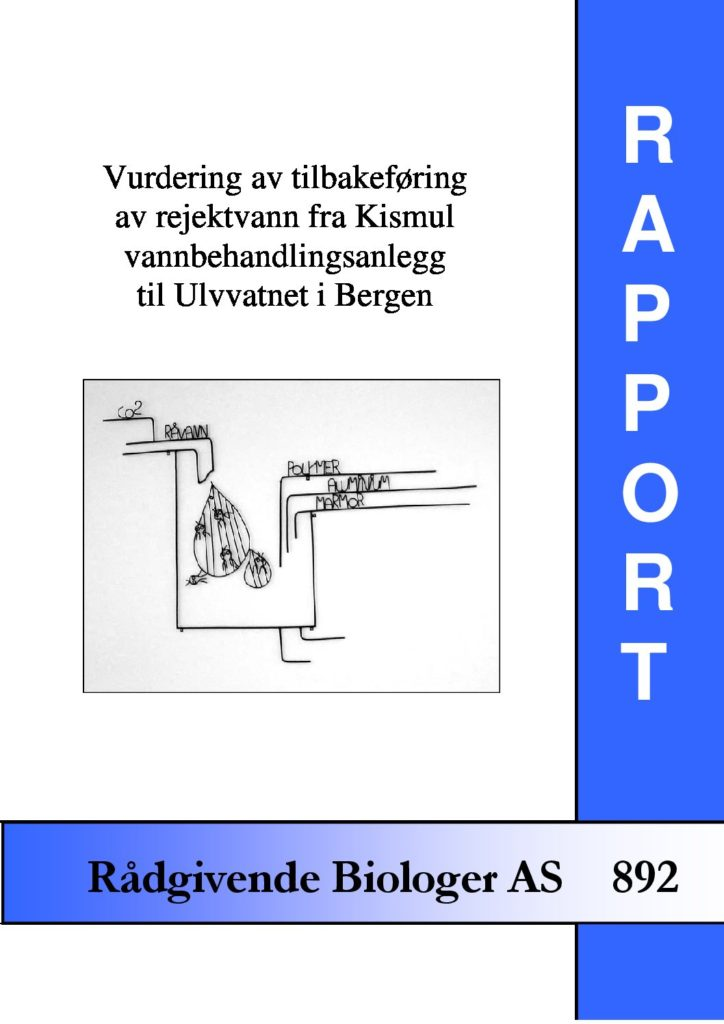 Rapport cover - rapport 892