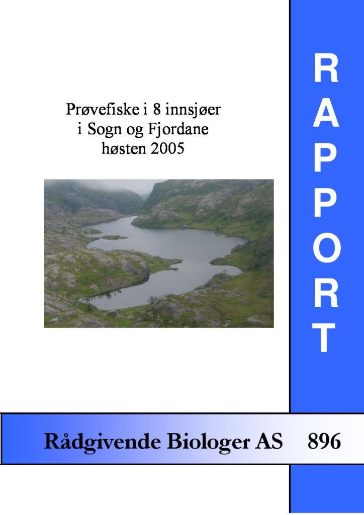 Rapport cover - rapport 896