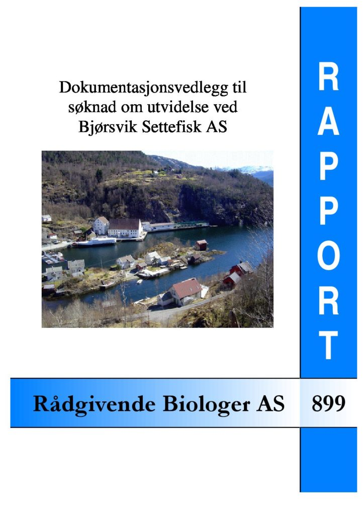 Rapport cover - rapport 899