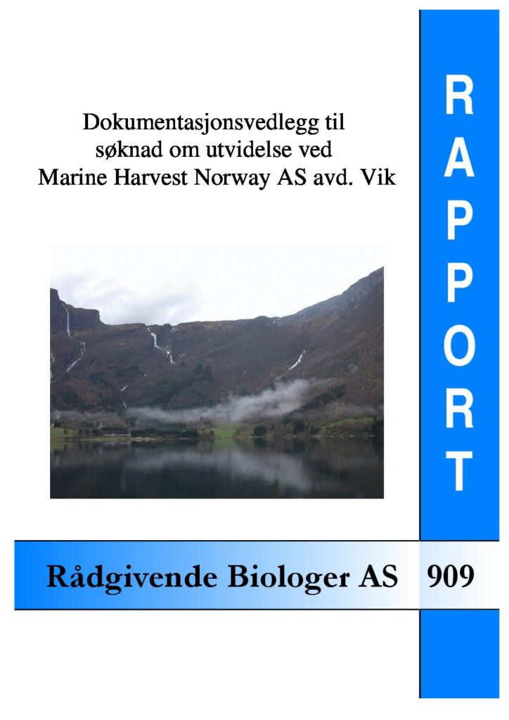 Rapport cover - rapport 909