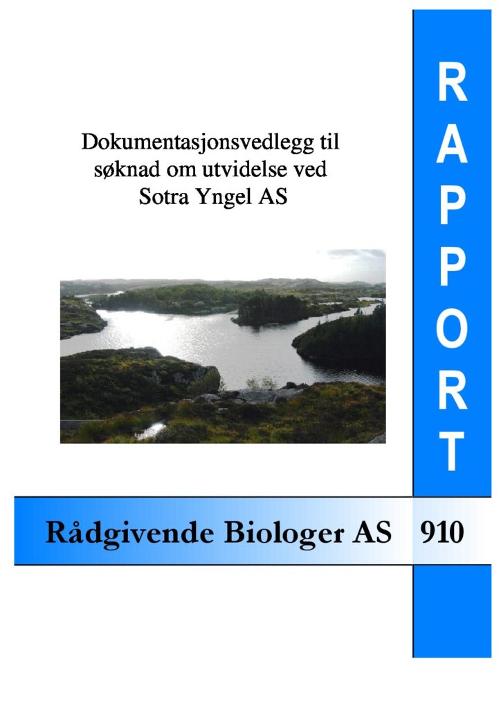 Rapport cover - rapport 910