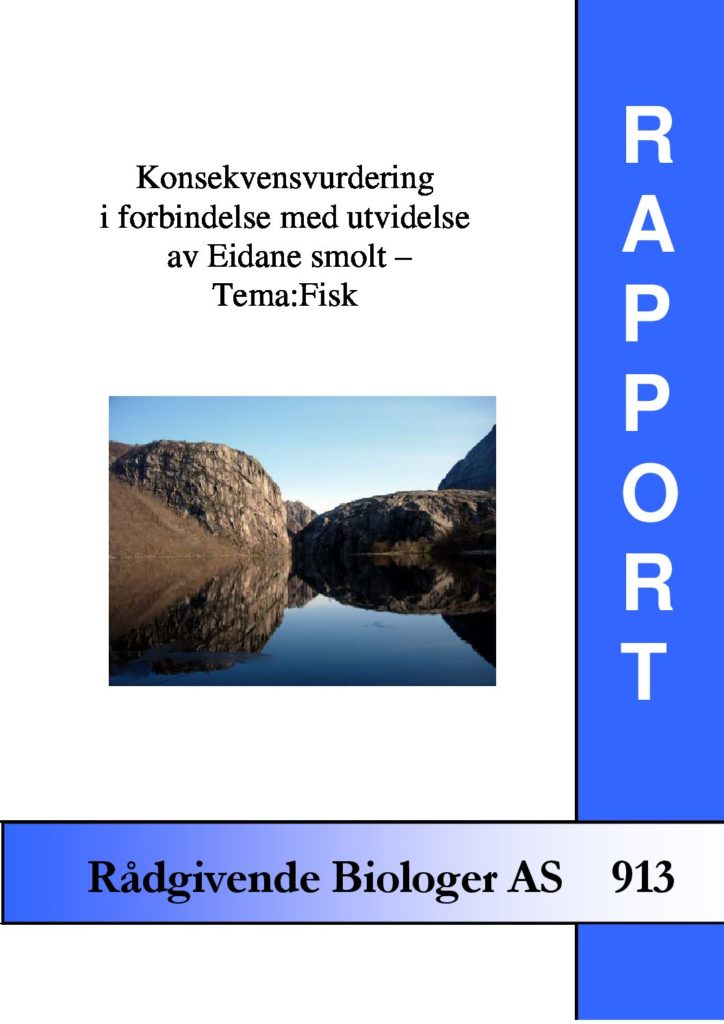Rapport cover - rapport 913