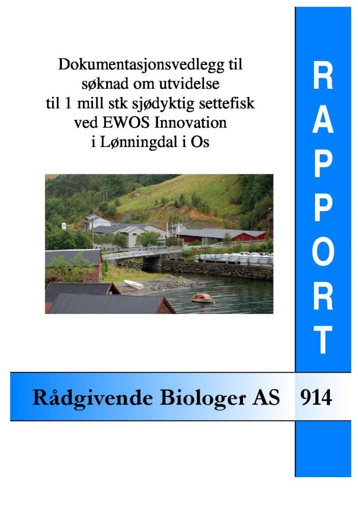 Rapport cover - rapport 914