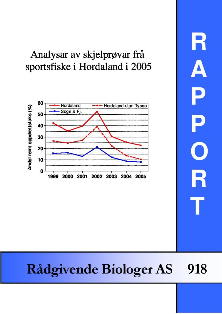 Rapport cover - rapport 918