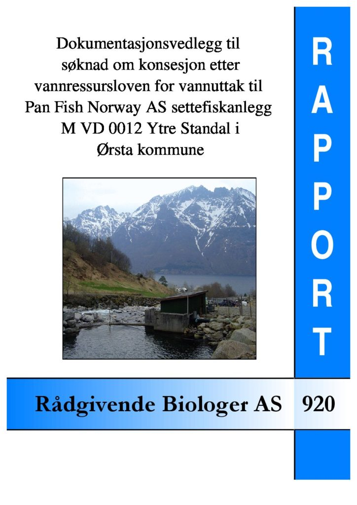 Rapport cover - rapport 920