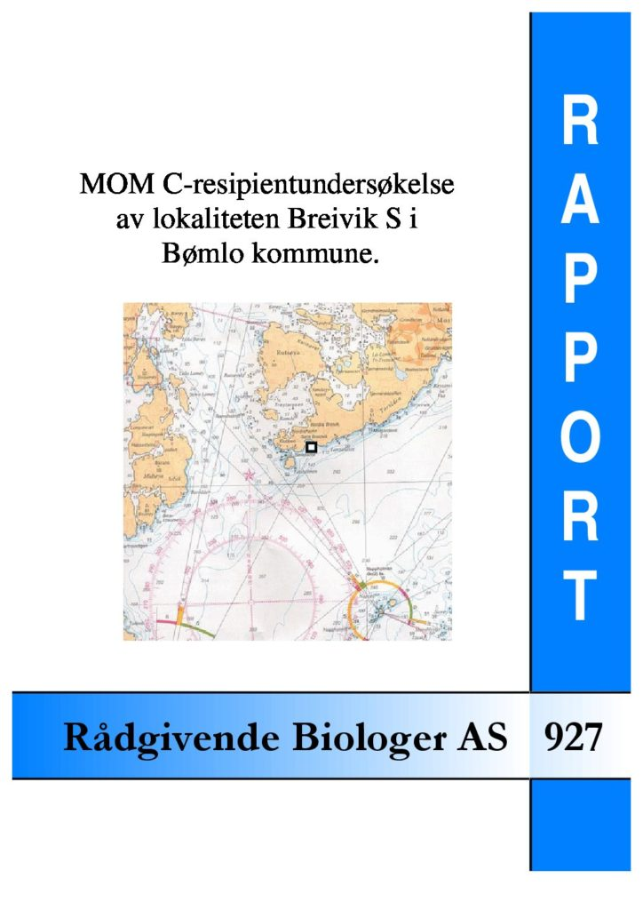 Rapport cover - rapport 927