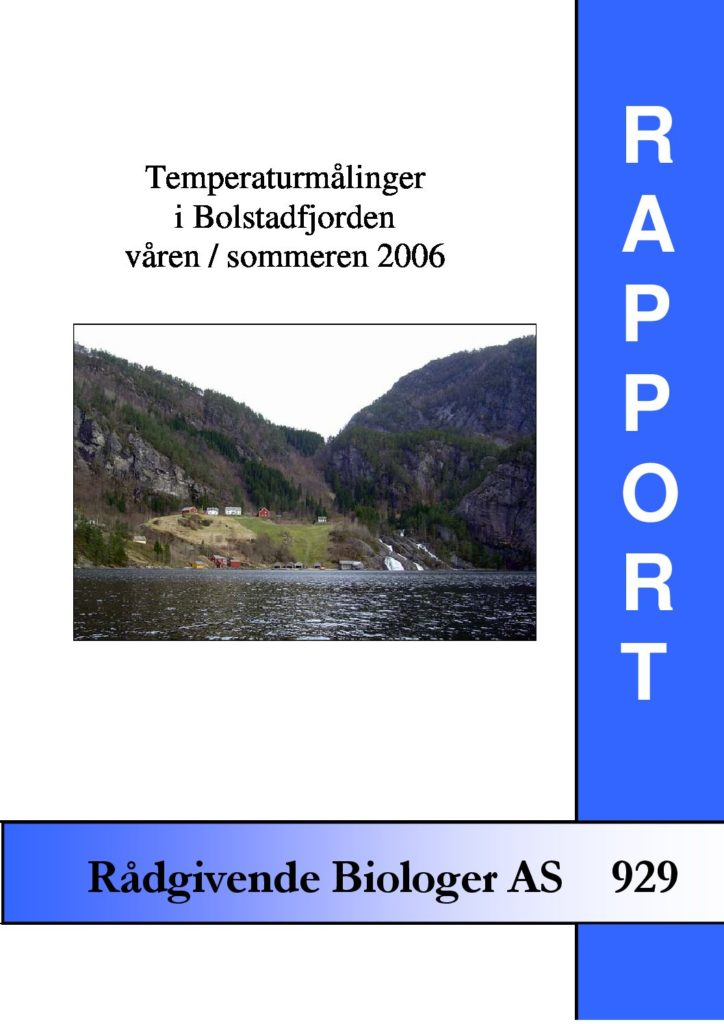 Rapport cover - rapport 929