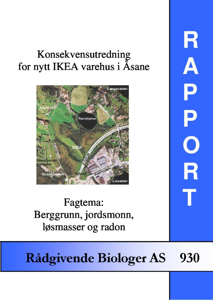 Rapport cover - rapport 930