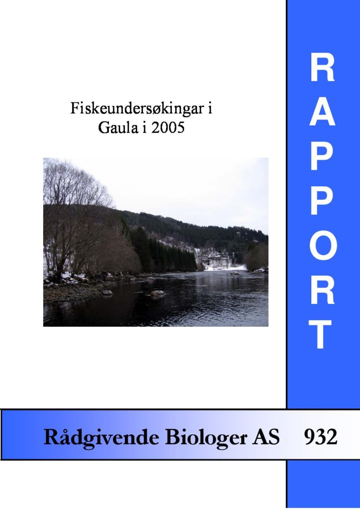 Rapport cover - rapport 932
